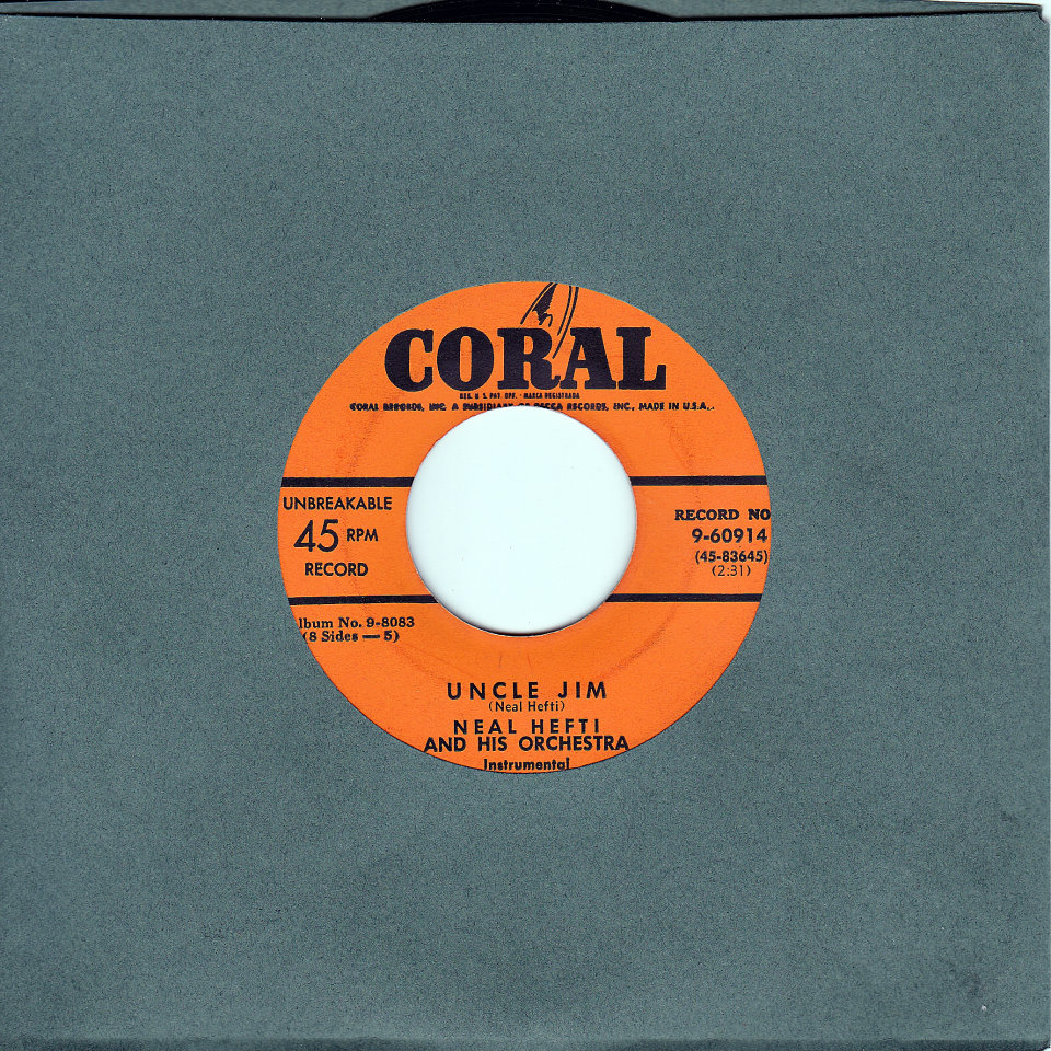 """Neal Hefti And His Orchestra Vinyl 7"""" (Used)"""