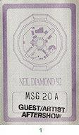 Neil Diamond Backstage Pass
