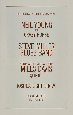 Neil Young & Crazy Horse Program reverse side