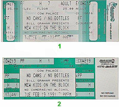 New Kids On The Block Vintage Ticket