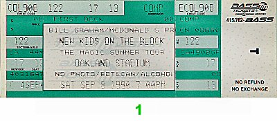 New Kids On The Block Vintage Ticket