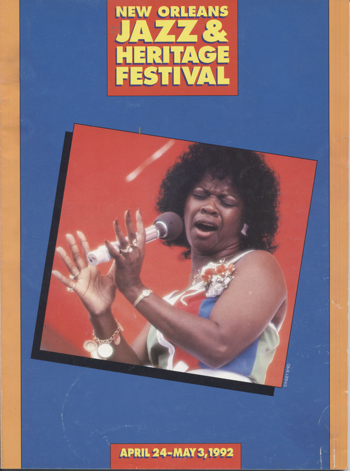New Orleans Jazz & Heritage Festival Program