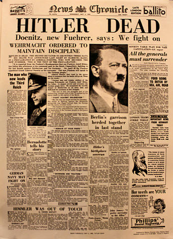 News Chronicle May 2, 1945 Poster