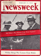 Newsweek Magazine February 17, 1941 Magazine