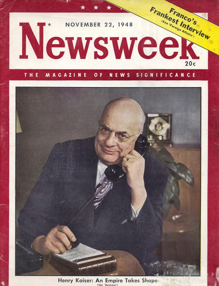 Newsweek Vol. XXXII No. 22