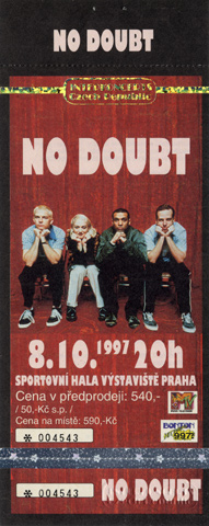 No Doubt Vintage Ticket