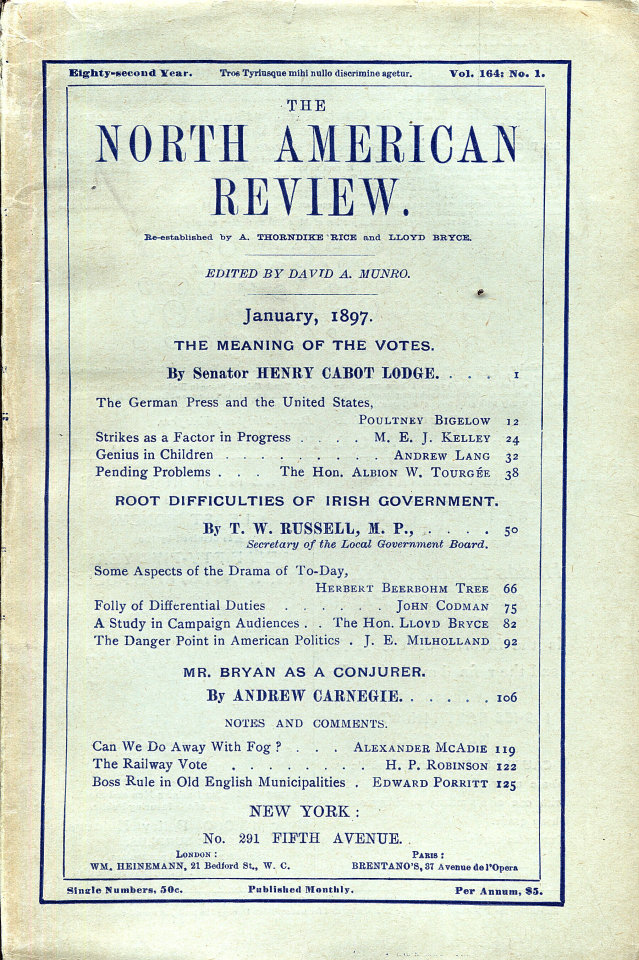 North American Review 1/1/1897