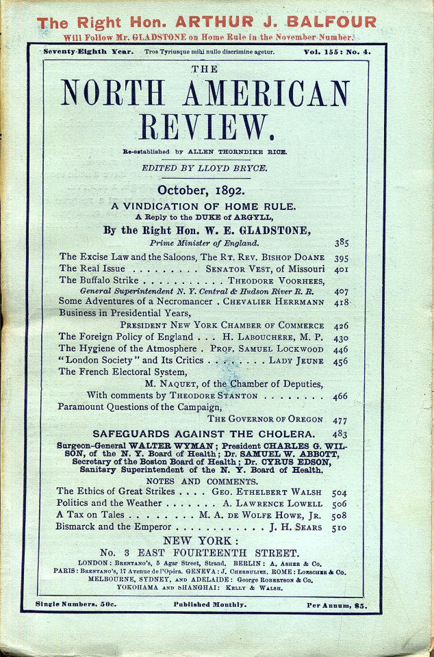 North American Review 10/1/1892