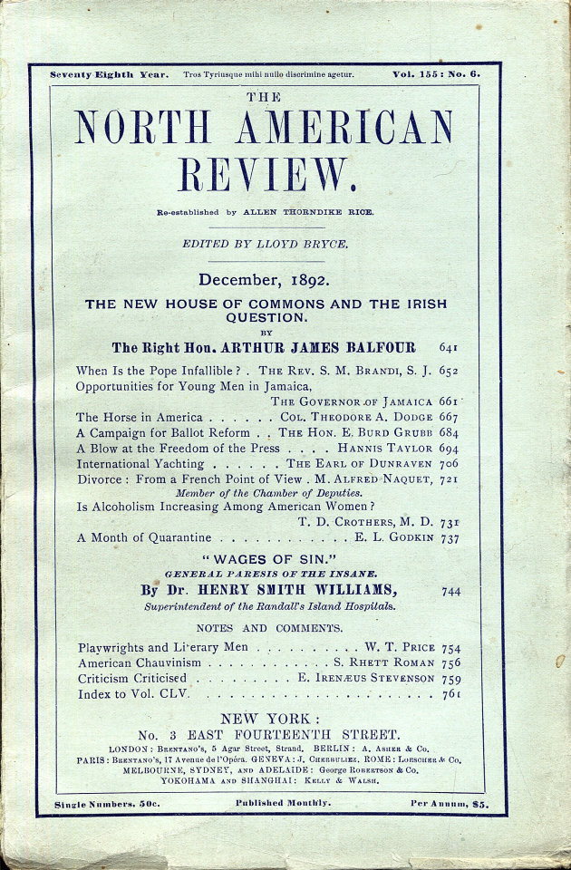 North American Review 12/1/1892
