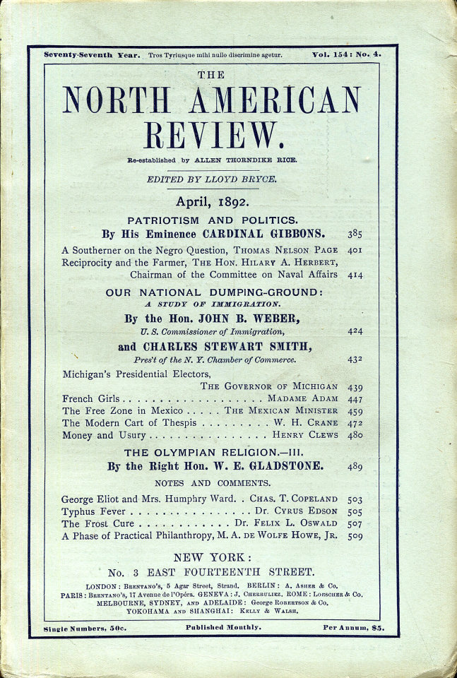 North American Review 4/1/1892
