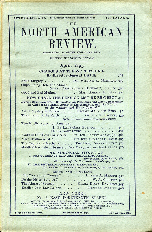 North American Review 4/1/1893