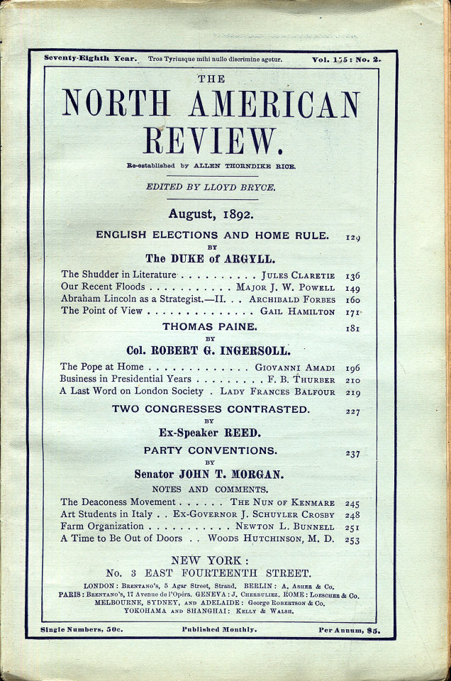 North American Review 8/1/1892