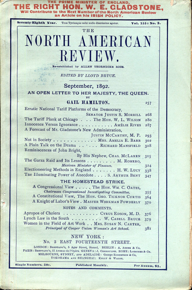 North American Review 9/1/1892