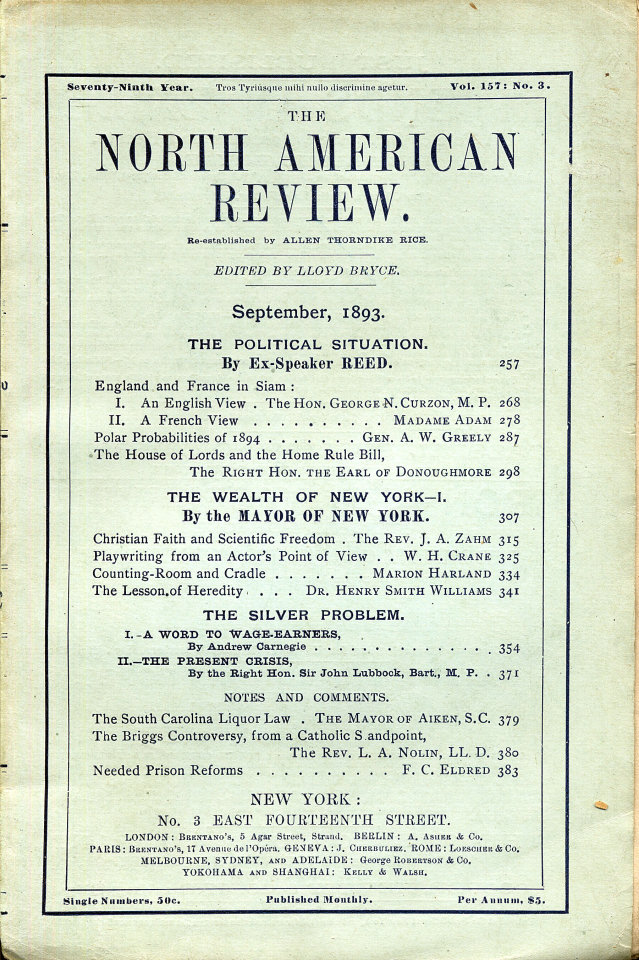 North American Review 9/1/1893