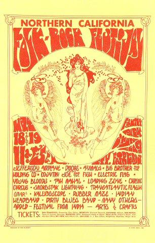 Northern California Folk-Rock Festival Handbill