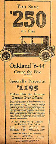 "Oakland: ""6-44"" Coupe Vintage Ad"