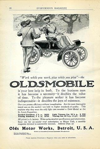 Oldsmobile Vintage Ad