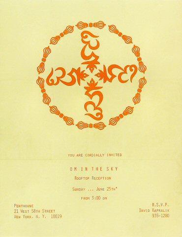 Om in the Sky Handbill