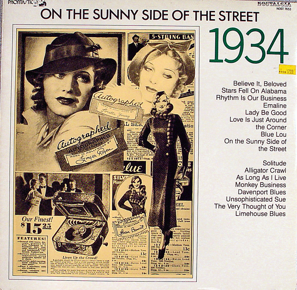 """On The Sunny Side Of The Street: 1934 Vinyl 12"""" (New)"""