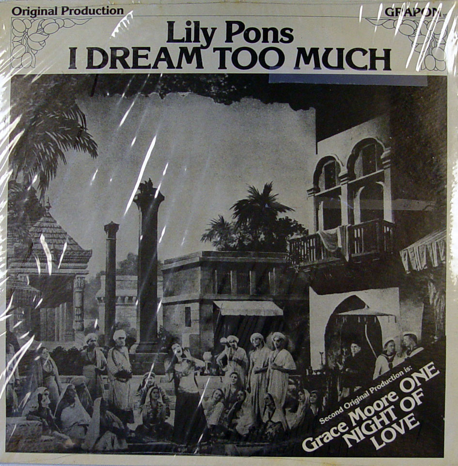"One Night Of Love / I Dream Too Much Vinyl 12"" (New) reverse side"