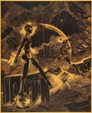 Orange Planet Poster