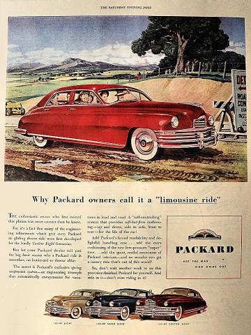 Packard: Eight / Super Eight / Custom Eight Vintage Ad