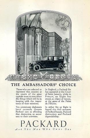 Packard: The Ambassadors' Choice Vintage Ad