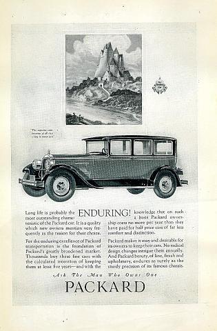 Packard: The Restful Car Vintage Ad
