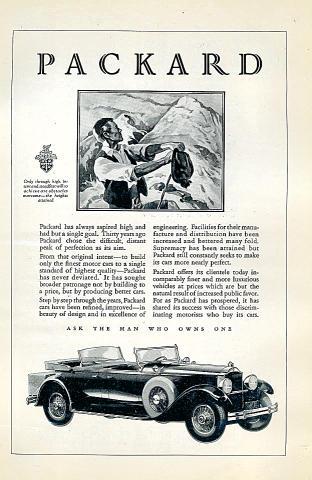 Packard Vintage Ad