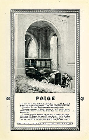 Paige: 6-66 Enclosed Model Vintage Ad