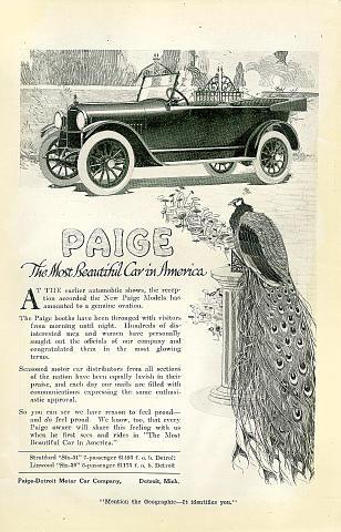 Paige Vintage Ad