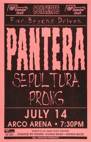 pantera poster from arco arena jul 14 1994 wolfgangs
