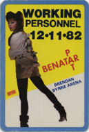 Pat Benatar Backstage Pass