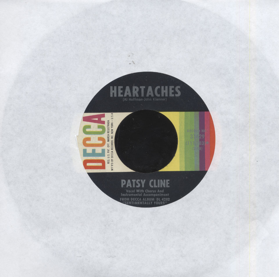 """Patsy Cline Vinyl 7"""" (Used)"""