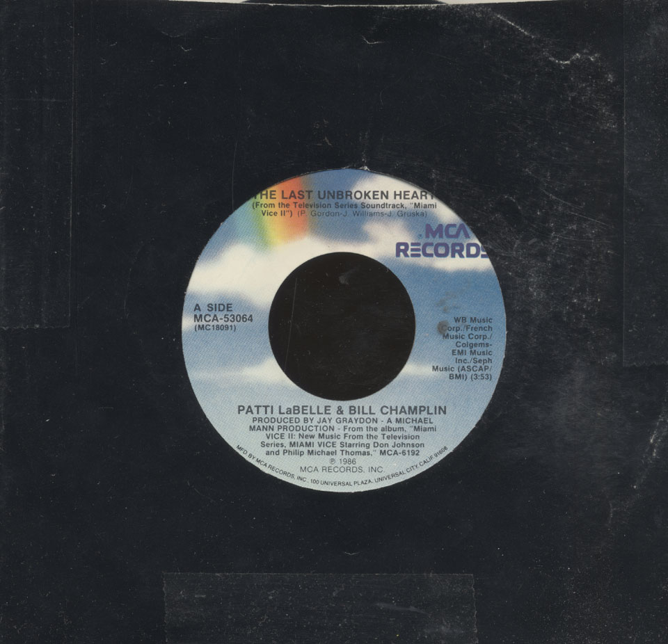 "Patti LaBelle / Bill Champlin / Jan Hammer Vinyl 7"" (Used)"