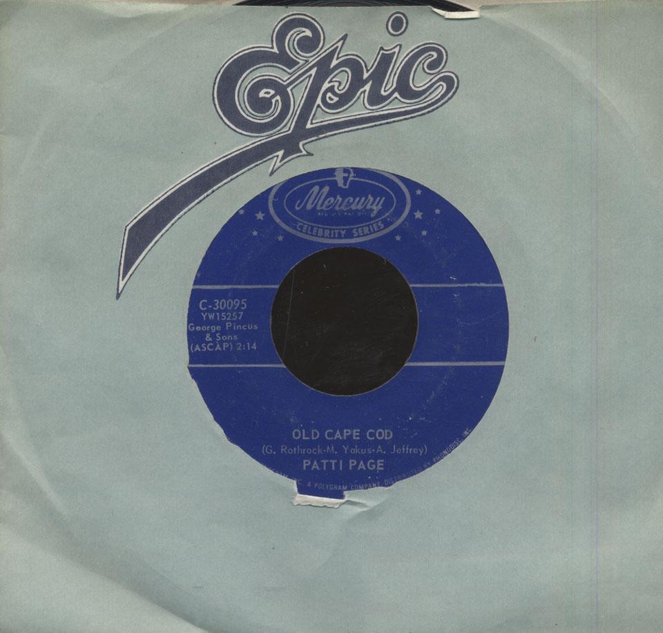 "Patti Page Vinyl 7"" (Used)"