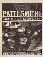 Patti Smith And Band Handbill