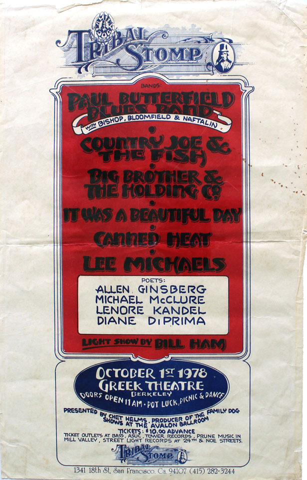 Paul Butterfield Band Poster