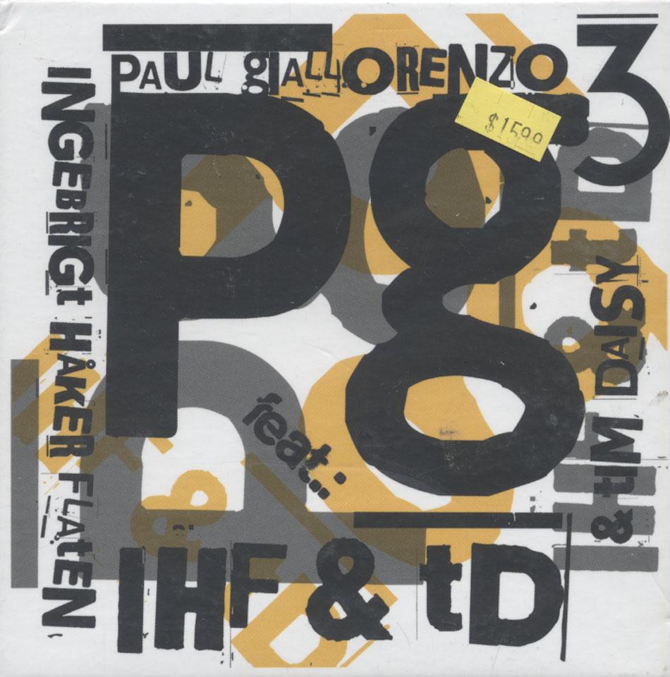Paul Giallorenzo Trio CD