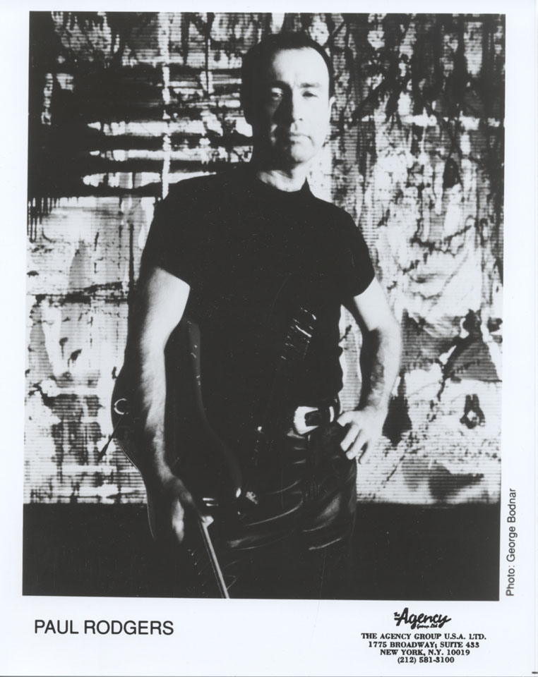 Paul Rodgers Promo Print