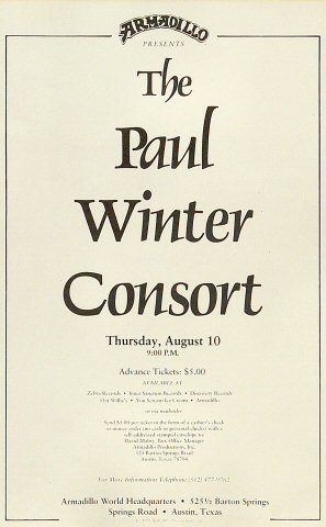 Paul Winter Consort Handbill