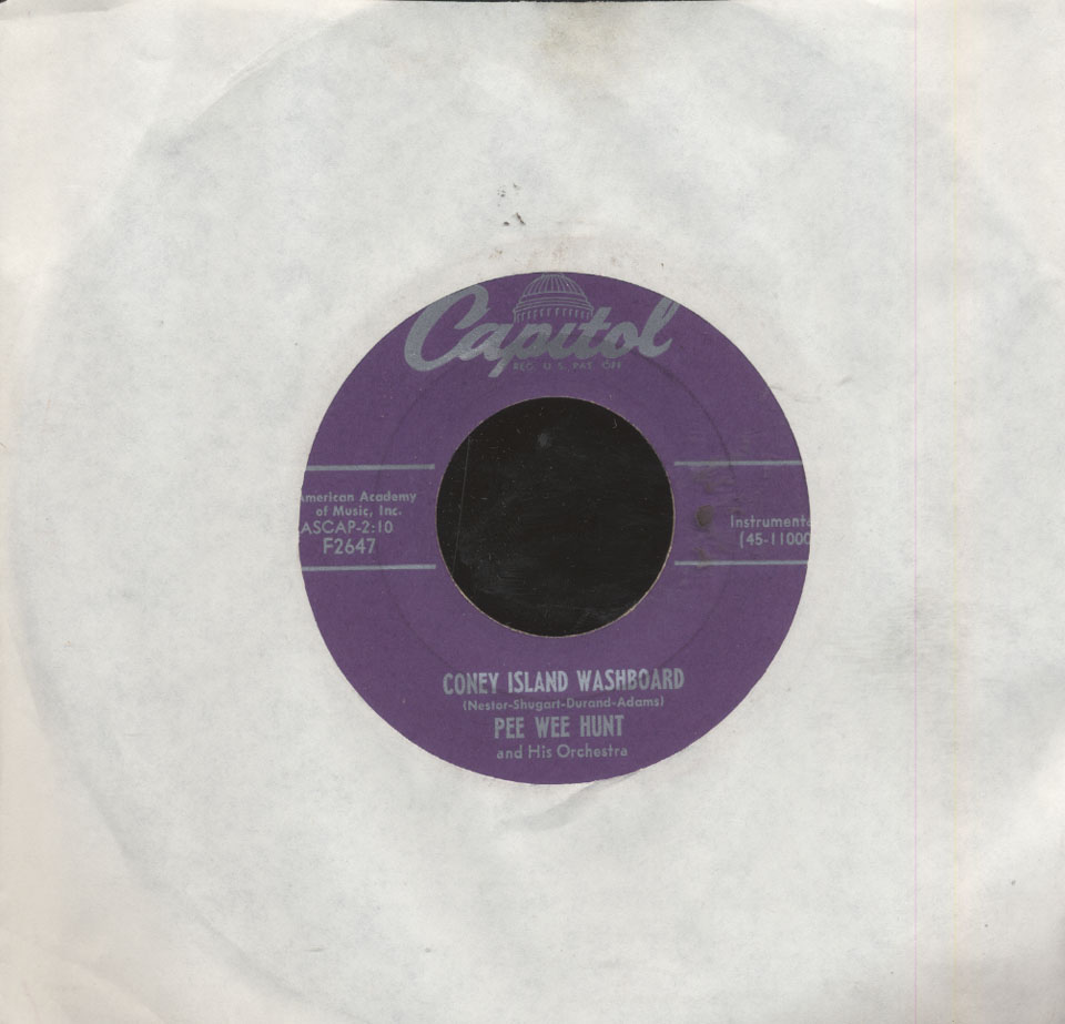 """Pee Wee Hunt And His Orchestra Vinyl 7"""" (Used)"""