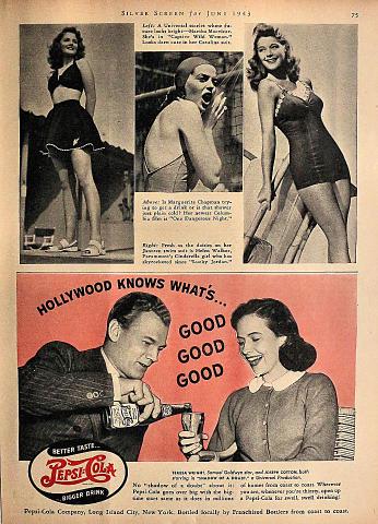 Pepsi-Cola: Better Taste...Bigger Drink Vintage Ad