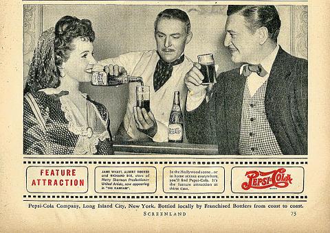 Pepsi-Cola: Feature Attraction Vintage Ad