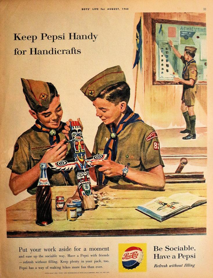 Pepsi Cola Keep Pepsi Handy For Handicrafts Vintage Ad Aug 1 1960