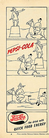 Pepsi-Cola...The Drink With Quick Food Energy Vintage Ad