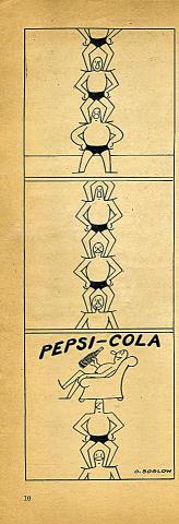 Pepsi-Cola Vintage Ad
