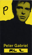 Peter Gabriel Backstage Pass