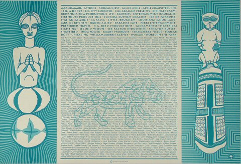 Peter Gabriel Poster reverse side