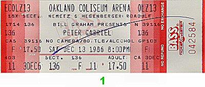 Peter Gabriel Vintage Ticket